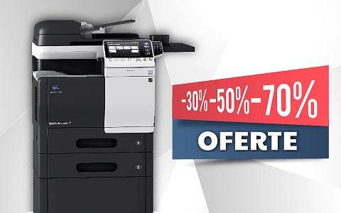 Promotii vanzare si inchiriere echipamente multifunctionale de printare prin romsystems.ro
