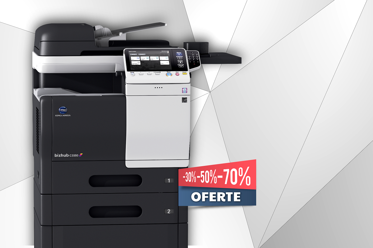 Promotii echipamente de printare laser, multifunctionale si imprimante alb-negru si color prin Romsystem.ro